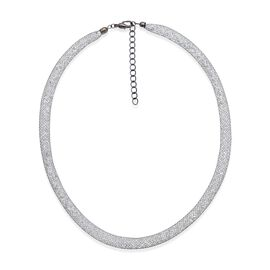 AAA White Austrian Crystal Necklace (Size 18 with 2 inch Extender) in Black Tone