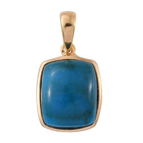 Natural Rare Opalina (Cush) Solitaire Pendant in 14K Gold Overlay Sterling Silver 3.500 Ct.