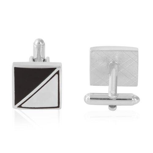 Triangle Cufflink in Silver Bond