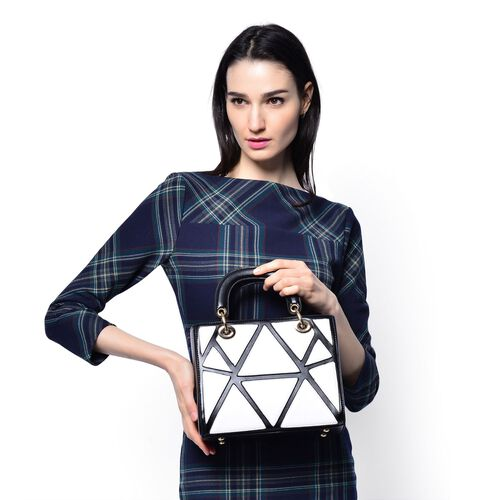 Manhattan Collection Le Petit Geometric Tote Bag (Size 25x20x12 Cm)