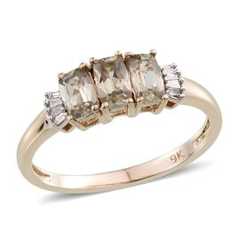 9K Y Gold Turkizite (Cush), Diamond Ring 1.100 Ct.
