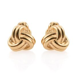 14K Gold Overlay Sterling Silver Knot Cufflinks, Silver wt 9.00 Gms.