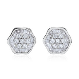 ILIANA 18K W Gold IGI Certified Diamond (Rnd) (SI/G-H) Stud Earrings (with Screw Back) 0.500 Ct.