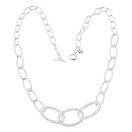 RACHEL GALLEY Cascade Necklace (Size 20) in Sterling Silver, Silver wt 30.00 Gms.