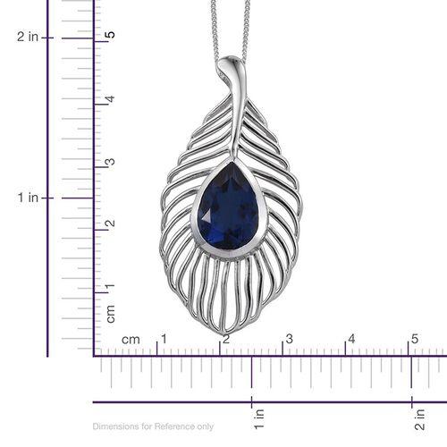 Ceylon Colour Quartz (Pear) Solitaire Pendant With Chain in Platinum Overlay Sterling Silver 5.500 Ct.
