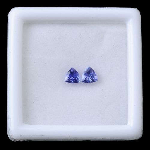 Mega Deal Tanzanite Set of 2 (Trl 5mm Faceted AA) 1.000 Ct.
