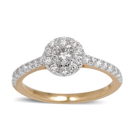 ILIANA 18K Y Gold IGI Certified Diamond (Rnd 0.31 Ct) (SI/ G-H) Ring 0.750 Ct.