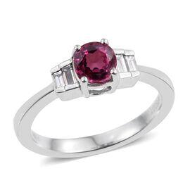 RHAPSODY 950 Platinum AAAA Mahenge Pink Spinel (Cush 1.05 Ct), Diamond (VS/E-F) Ring 1.250 Ct.