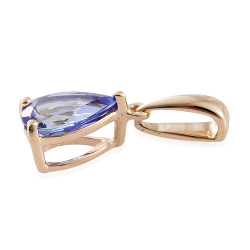 9K Y Gold AA Tanzanite (Pear) Solitaire Pendant 0.750 Ct.