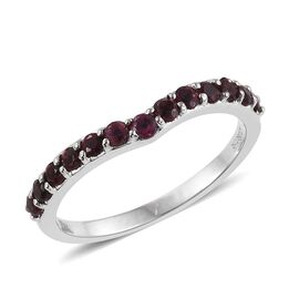RHAPSODY 950 Platinum 0.50 Carat Pink Tourmaline Wishbone Ring