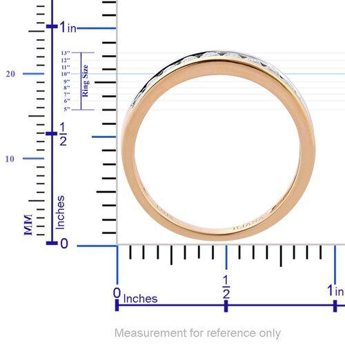 ILIANA 18K Y Gold IGI Certified Diamond (Rnd) (SI/G-H) Half Eternity Band Ring 0.500 Ct.