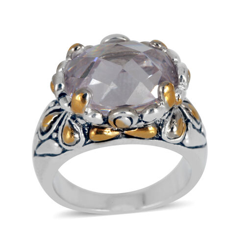 Austrian Crystal (Ovl) Ring in Silver Tone