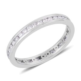 RHAPSODY 950 Platinum 0.50 Carat Diamond Channel Set Full Eternity Band Ring IGI Certified VS E-F.