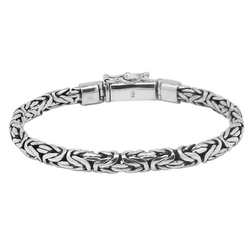 Royal Bali Collection Sterling Silver Hand Made Borobudur Bracelet (Size 7), Silver wt. 28.56 Gms.