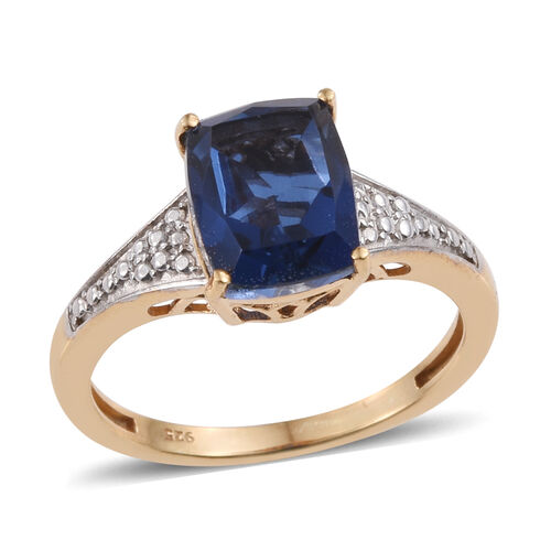 Ceylon Colour Quartz (Cush) Solitaire Ring in 14K Gold Overlay Sterling Silver 3.750 Ct.