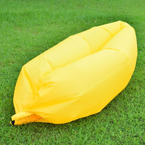 Yellow Colour Self Inflating Air Lounger with Carry Pouch