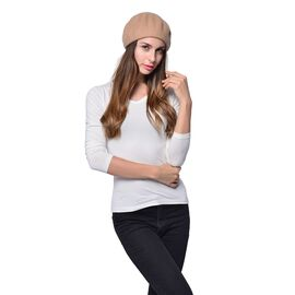 MILANO COLLECTION Wool Blend Khaki Colour Ladies  Beret