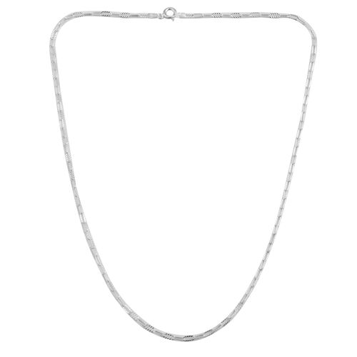 Sterling Silver Drop Slash Necklace (Size 18)