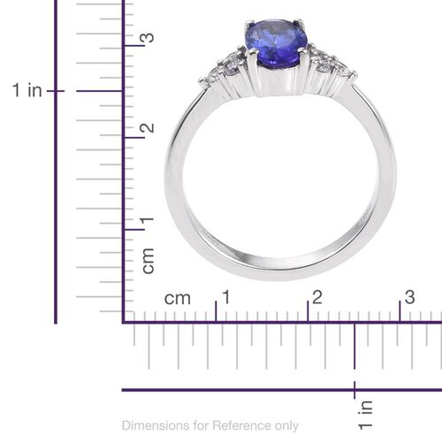 RHAPSODY 950 Platinum 2 Carat AAAA Tanzanite Oval Ring, Diamond VS E-F.