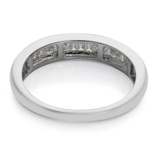 RHAPSODY 950 Platinum 0.50 Carat Diamond Half Eternity Band Ring IGI Certified VS E-F.