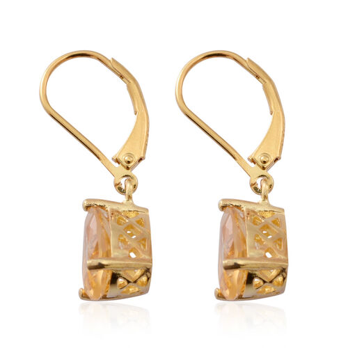 Citrine (Pear) Lever Back Earrings in 14K Gold Overlay Sterling Silver 3.000 Ct.