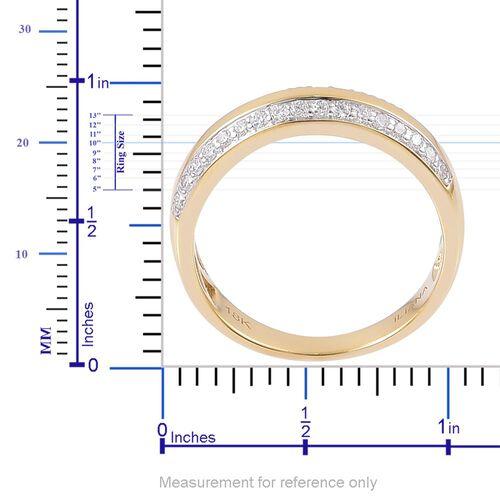 ILIANA 18K Yellow Gold IGI Certified 0.50 Carat Diamond Band Ring SI G-H