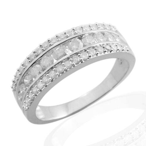 9K W Gold GSI Certified Diamond (Rnd) (I 3 /G-H) Ring 1.000 Ct.