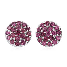 RHAPSODY 950 Platinum AAAA Ouro Fino Rubellite (Rnd) Stud Earrings (with Screw Back) 1.250 Ct.
