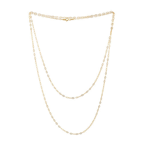 Vicenza Collection 14K Gold Overlay Sterling Silver Oval Link Chain (Size 36), Silver wt 3.30 Gms.