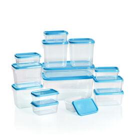 Set of 14 Food Storage Container, Freezer and Dishwasher Safe- Blue (1800ml, 750ml, 600ml -2, 400ml -2, 250ml - 2, 125ml - 6) - Blue