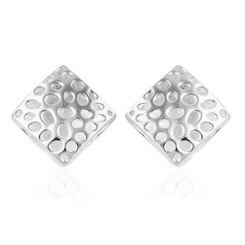RACHEL GALLEY Sterling Silver Memento Diamond Stud Earrings (with Push Back), Silver wt 5.21 Gms.