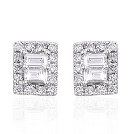 ILIANA 18K W Gold Diamond (Bgt) Stud Earrings 0.500 Ct.