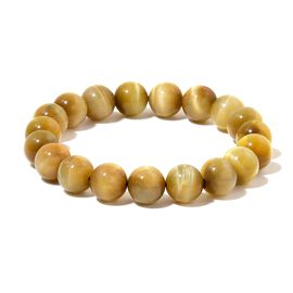Tigers Eye Stretchable Ball Beaded Bracelet (Size 6.5) 131.000 Ct.