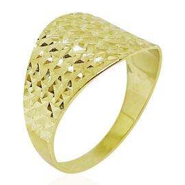 9K Y Gold Diamond Cut Ring