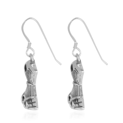 Designer Inspired Silver Hook Earrings, Silver wt 8.71 Gms.