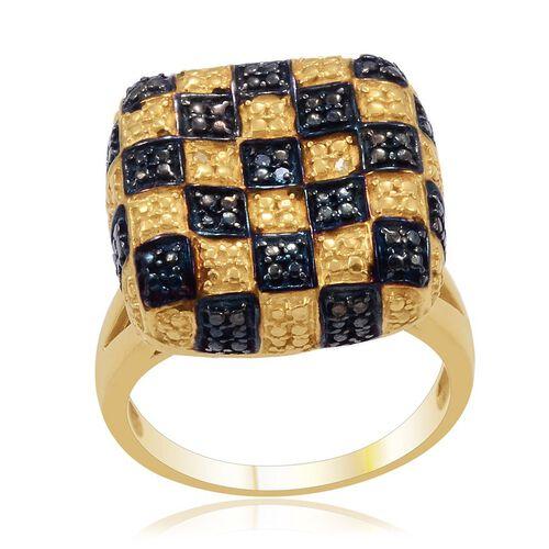 Blue Diamond (Rnd), Diamond Ring in Gold Bond