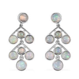 AA Ethiopian Welo Opal (Rnd) Earrings in Platinum Overlay Sterling Silver 4.750 Ct.