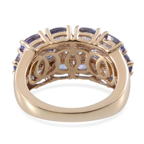 9K Y Gold Tanzanite (Ovl) Ring 3.500 Ct.