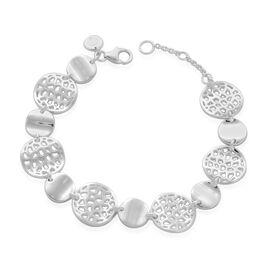 RACHEL GALLEY Sterling Silver Wave Full Bracelet (Size 8), Silver wt 18.75 Gms.