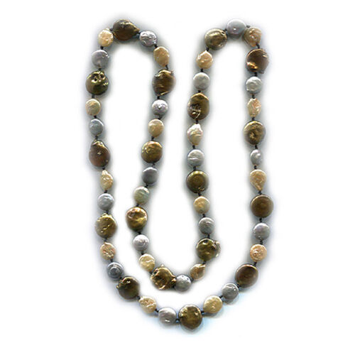 Fresh Water Pearl Multi Colour Pearl Necklace (Size 34) 375.000 Ct.