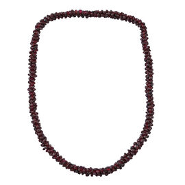 Red Garnet Rope Necklace (Size 24) 450.000 Ct.