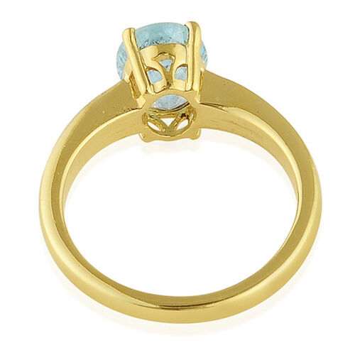 Mozambique Paraiba Tourmaline (Ovl) Solitaire Ring in 14K Gold Overlay Sterling Silver 2.000 Ct.