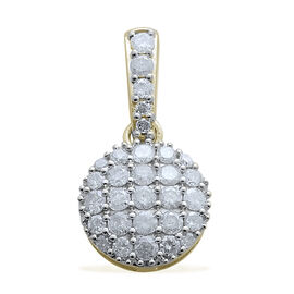 9K Y Gold SGL Certified Diamond (Rnd) (I3/ G-H) Pendant 1.000 Ct.