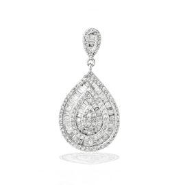 ILIANA 18K W Gold SGL Certified Diamond (Rnd) (SI/G-H) Pendant 1.000 Ct.