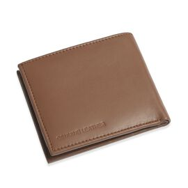 OTO - Genuine Leather Chocolate Colour RFID Multi Utility Wallet (Size 11x10 Cm)
