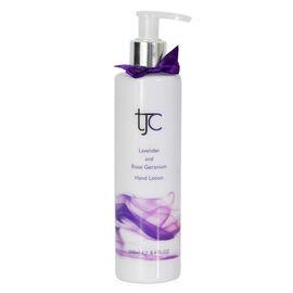 TJC Lavender and Rose Geranium Moisturising Hand and Body Lotion Pump 250ml