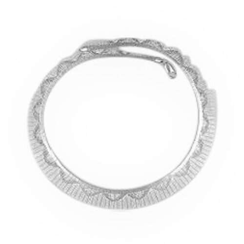 JCK Vegas Collection Rhodium Plated Sterling Silver Cleopatra Necklace (Size 18), Silver wt 31.69 Gms.