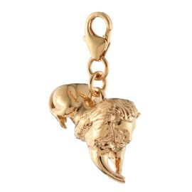 Trafalgar Lion Charm in Silver with Gold Overlay, Silver wt. 8.00 Gms.