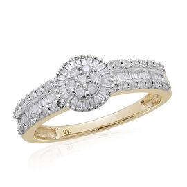 9K Y Gold SGL Certified Diamond (Rnd) (I3/G-H) Ring 0.500 Ct.