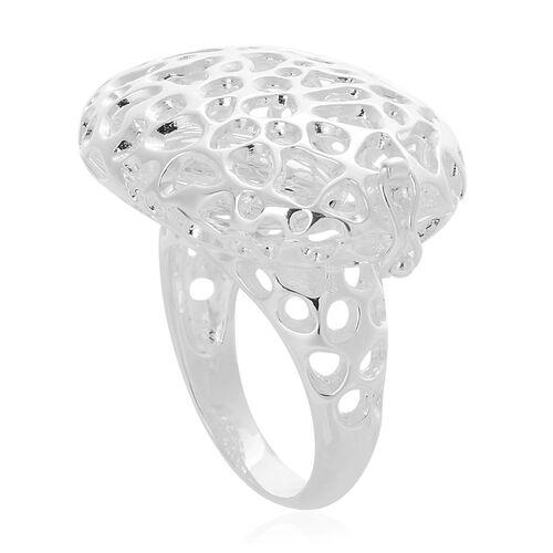 RACHEL GALLEY Sterling Silver Charmed Pebble Locket Ring, Silver wt 10.80 Gms.